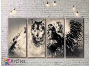 Модульные картины с животными, Art. AMM778030