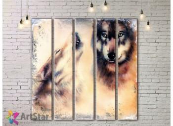 Модульные картины с животными, Art. ANIM778072