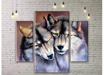 Модульные картины с животными, Art. ANIM777019