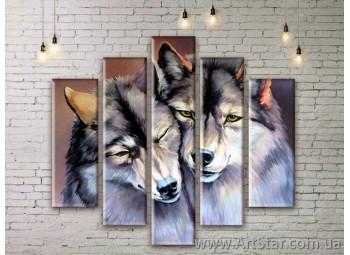 Модульные картины с животными, Art. ANIM777023