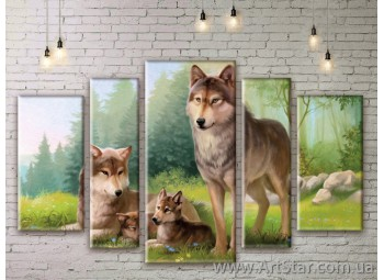 Модульные картины с животными, Art. ANIM777029