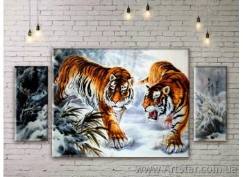 Модульные картины с животными, Art. ANIM777037