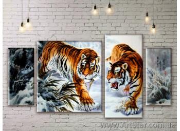 Модульные картины с животными, Art. ANIM777039