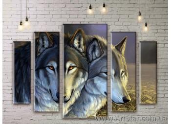 Модульные картины с животными, Art. ANIM777047