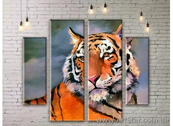 Модульные картины с животными, Art. ANIM777063
