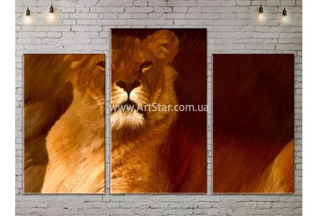 Модульные картины с животными, Art. ANIM778013