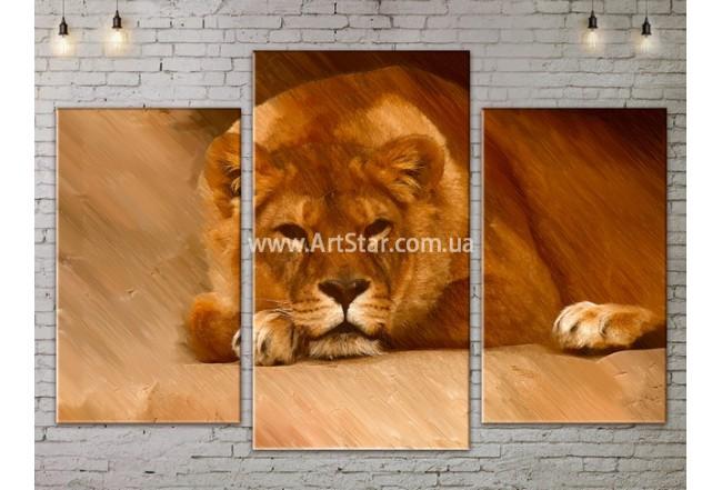 Модульные картины с животными, Art. ANIM778017