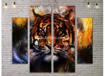 Модульные картины с животными, Art. ANIM778049
