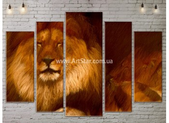 Модульные картины с животными, Art. ANIM778067