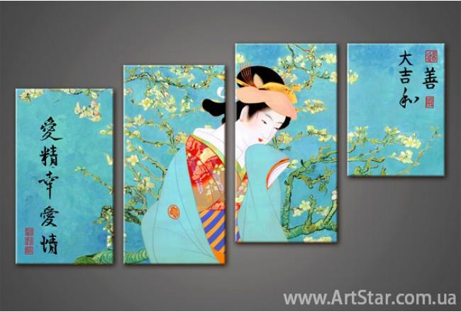 Модульная картина Сакура(4)