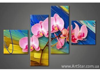 Модульная картина Орхидеи(4)