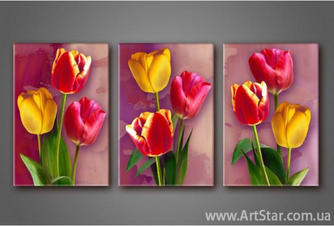 Модульная картина Тюльпаны 2