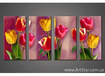 Модульная картина Тюльпаны(4) 2