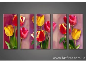 Модульная картина Тюльпаны (5) 2