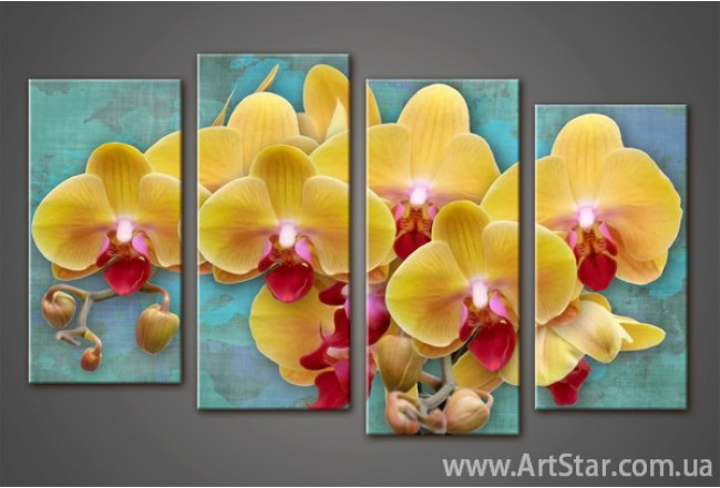 Модульная картина Орхидеи(4) 2