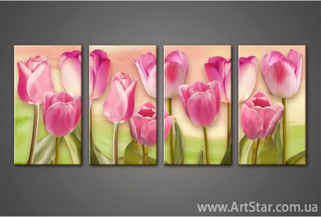 Модульная картина Тюльпаны(4) 3