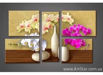 Модульная картина Орхидеи (5) 5