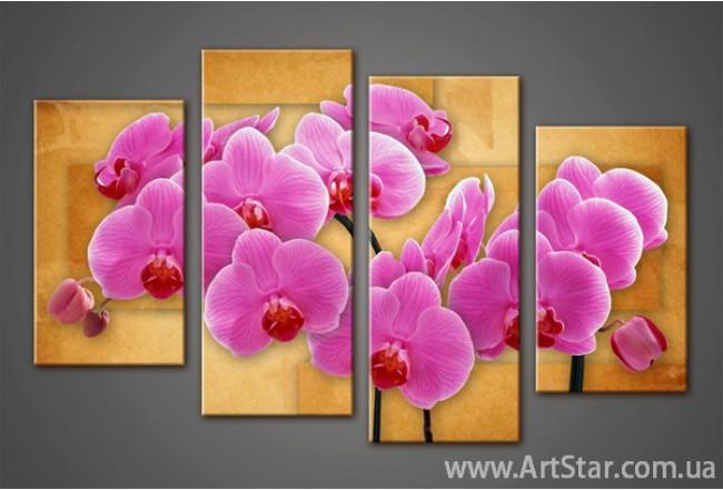 Модульная картина Орхидеи(4) 8