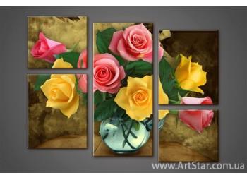Модульная картина Розы (5)