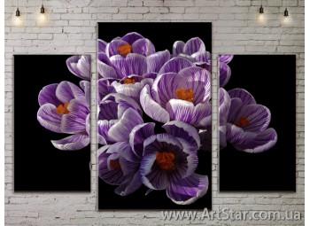 Модульные Картины Цветы, Art. FLOW777007
