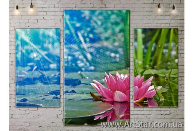 Модульные Картины Цветы, Art. FLOW777023