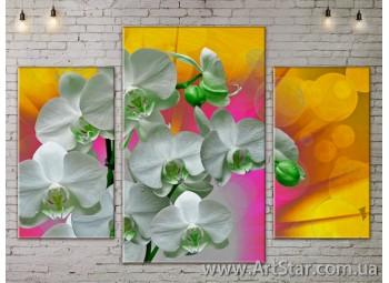 Модульные Картины Цветы, Art. FLOW777033