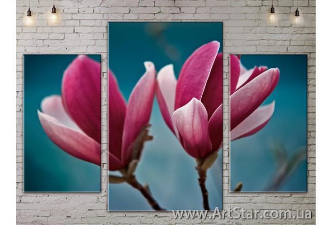 Модульные Картины Цветы, Art. FLOW777049