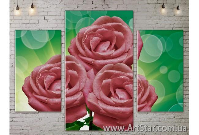 Модульные Картины Цветы, Art. FLOW777055