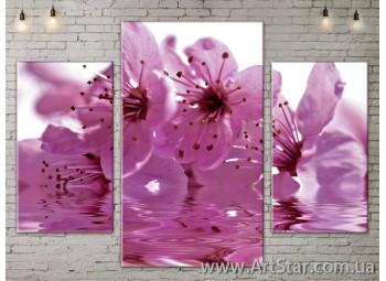 Модульные Картины Цветы, Art. FLOW777077