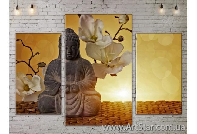 Модульные Картины Цветы, Art. FLOW777081