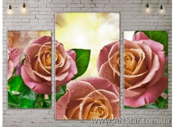 Модульные Картины Цветы, Art. FLOW777083