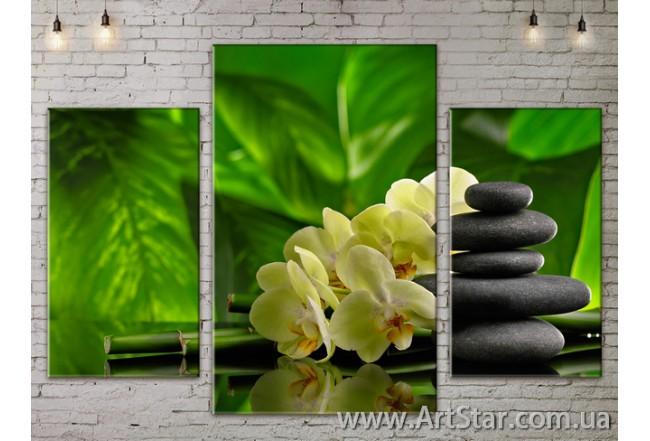 Модульные Картины Цветы, Art. FLOW777089