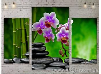 Модульные Картины Цветы, Art. FLOW777093