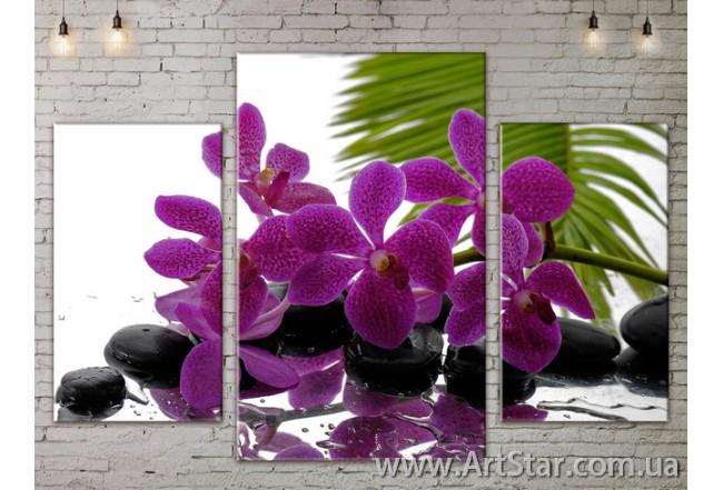 Модульные Картины Цветы, Art. FLOW777103