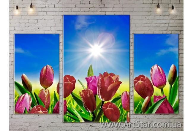 Модульные Картины Цветы, Art. FLOW777121