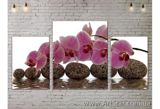 Модульные Картины Цветы, Art. FLOW777139