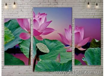 Модульные Картины Цветы, Art. FLOW777171