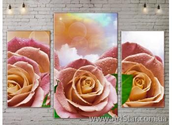 Модульные Картины Цветы, Art. FLOW777193