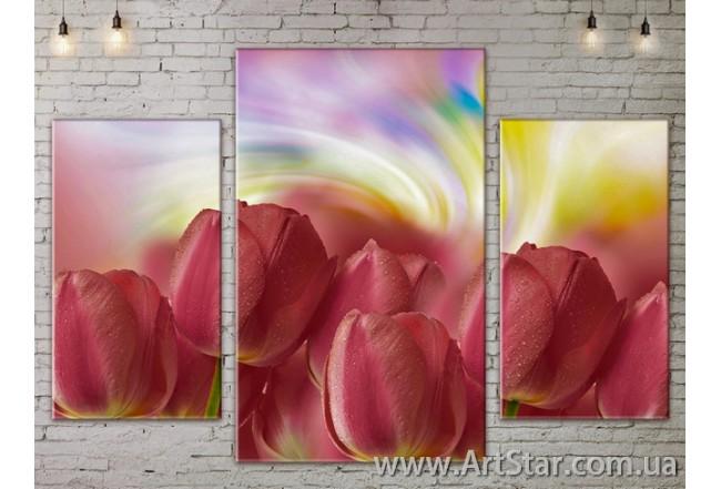 Модульные Картины Цветы, Art. FLOW777205