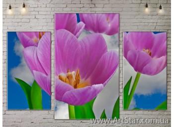 Модульные Картины Цветы, Art. FLOW777211