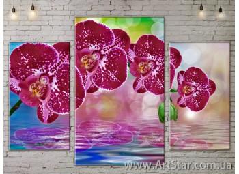Модульные Картины Цветы, Art. FLOW777221