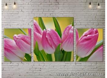 Модульные Картины Цветы, Art. FLOW777229