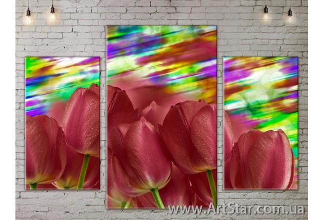 Модульные Картины Цветы, Art. FLOW777233