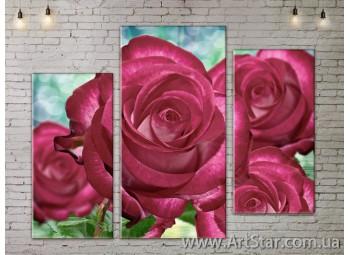 Модульные Картины, Цветы, Art. FLOW777247