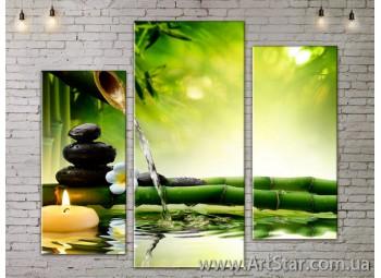 Модульные Картины, Цветы, Art. FLOW777267