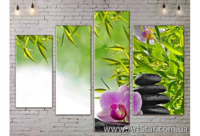 Модульные Картины, Цветы, Art. FLOW777296