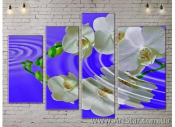 Модульные Картины, Цветы, Art. FLOW777314