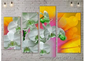Модульные Картины, Цветы, Art. FLOW777316