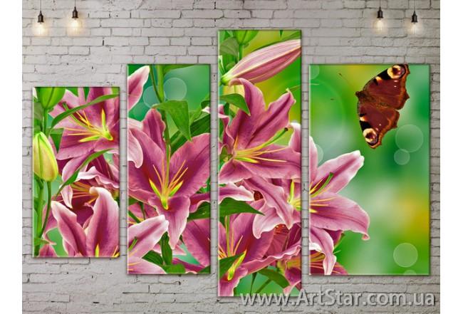 Модульные Картины, Цветы, Art. FLOW777324