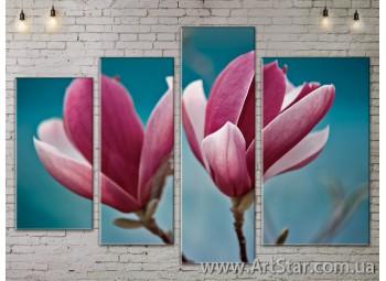 Модульные Картины, Цветы, Art. FLOW777332